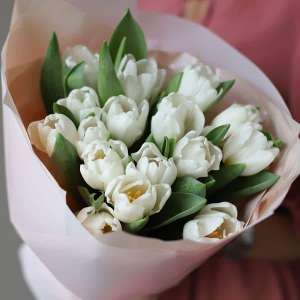 Монобукет из 15 тюльпанов в оформлении №1015 - Фото 2
