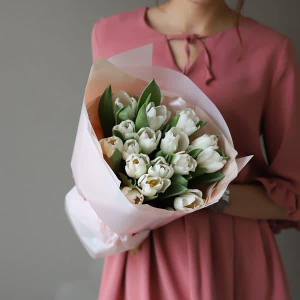 Монобукет из 15 тюльпанов в оформлении №1015 - Фото 1