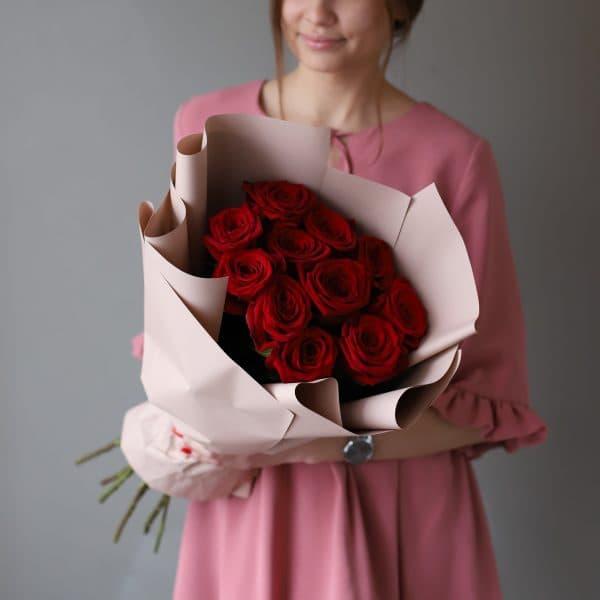 Монобукет из 11 Российских роз в оформлении №1021 - Фото 5