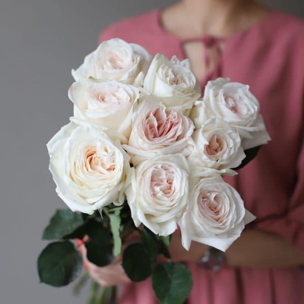 Монобукет из 9 пионовидных роз №1027 - Фото 2