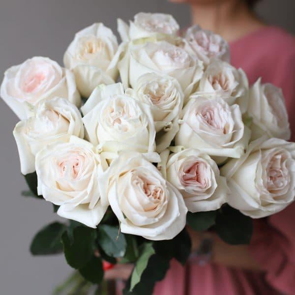 Монобукет из 15 пионовидных роз №1028 - Фото 8