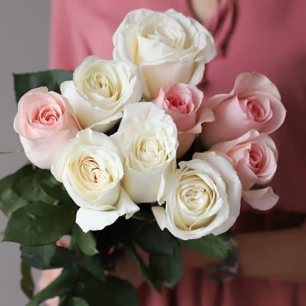 Монобукет из 9 роз (Эквадор) №1030 - Фото 2