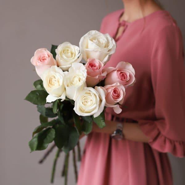 Монобукет из 9 роз (Эквадор) №1030 - Фото 3