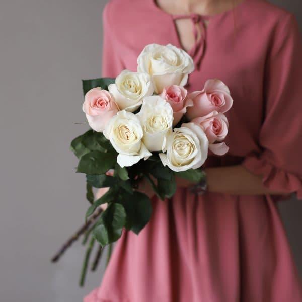 Монобукет из 9 роз (Эквадор) №1030 - Фото 1
