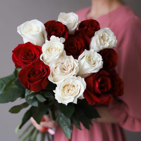 Монобукет из 15 роз (Эквадор) №1034 - Фото 2