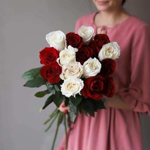 Монобукет из 15 роз (Эквадор) №1034 - Фото 1