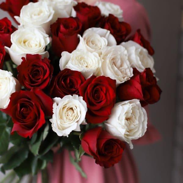 Монобукет из 25 роз (Эквадор) №1035 - Фото 2