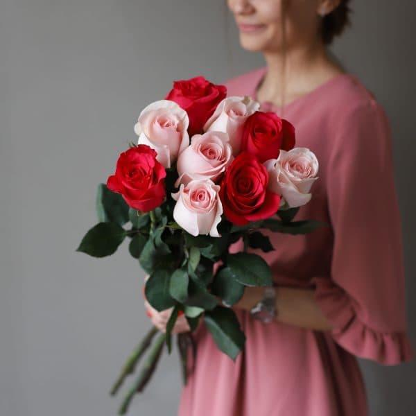 Монобукет из 9 роз (Эквадор) №1036 - Фото 7