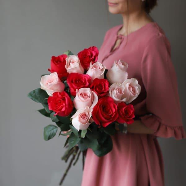 Монобукет из 15 роз (Эквадор) №1037 - Фото 3