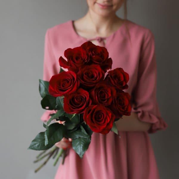 Монобукет из 9 роз (Эквадор) №1039 - Фото 9