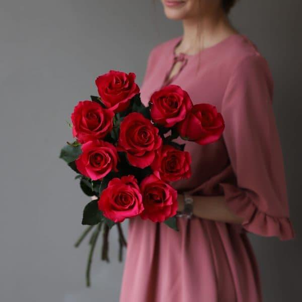 Монобукет из 9 роз (Эквадор) №1045 - Фото 3