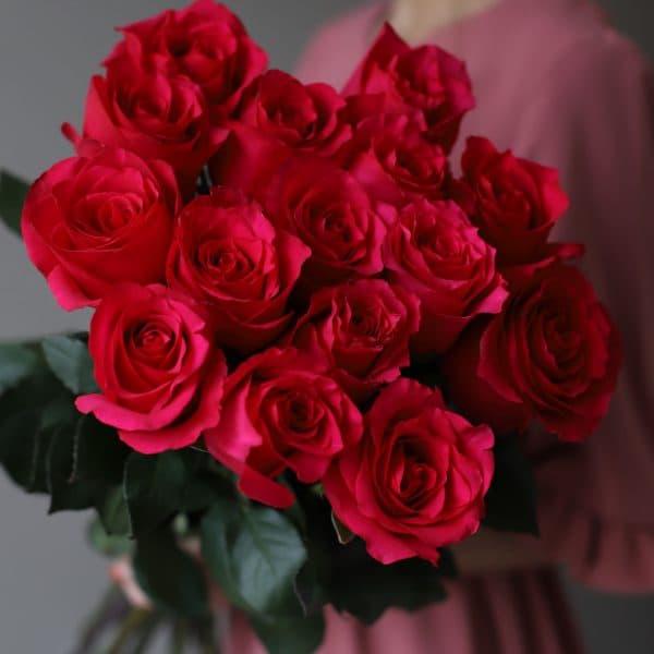 Монобукет из 15 роз (Эквадор) №1046 - Фото 2