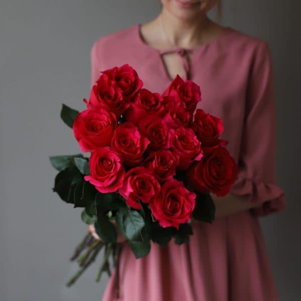 Монобукет из 15 роз (Эквадор) №1046 - Фото 1