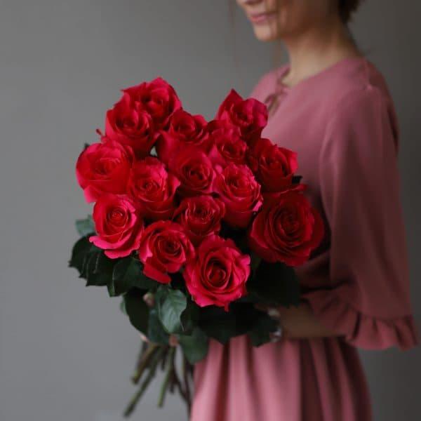 Монобукет из 15 роз (Эквадор) №1046 - Фото 3