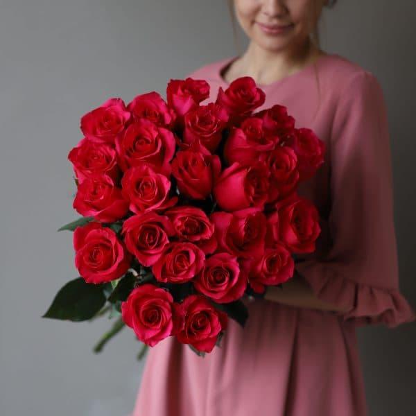 Монобукет из 25 роз (Эквадор) №1047 - Фото 3