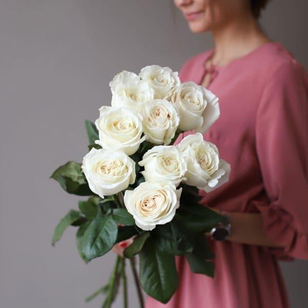 Монобукет из 9 роз (Эквадор) №1048 - Фото 3