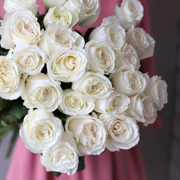 Монобукет из 25 роз (Эквадор) №1050 - Фото 2