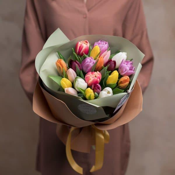 Монобукет из тюльпанов №1061 - Фото 2