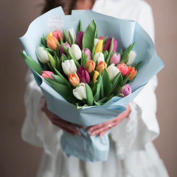 Монобукет из тюльпанов №1065 - Фото 7