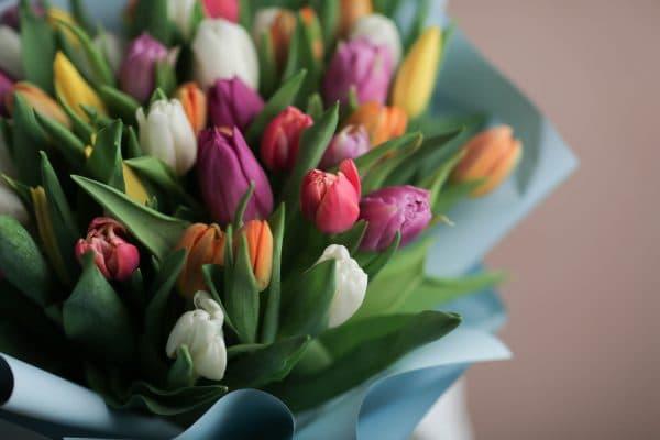 Монобукет из тюльпанов №1065 - Фото 8