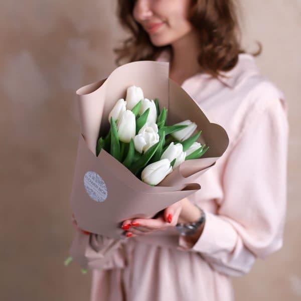 Монобукет из тюльпанов №1074 - Фото 3