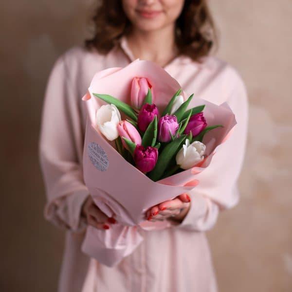 Монобукет из тюльпанов №1075 - Фото 1