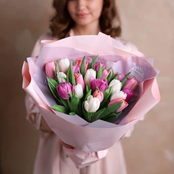 Монобукет из тюльпанов №1078 - Фото 9