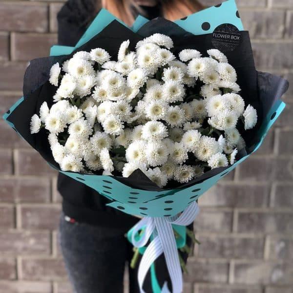 Букет из хризантемы Кокос №584 - Фото 1