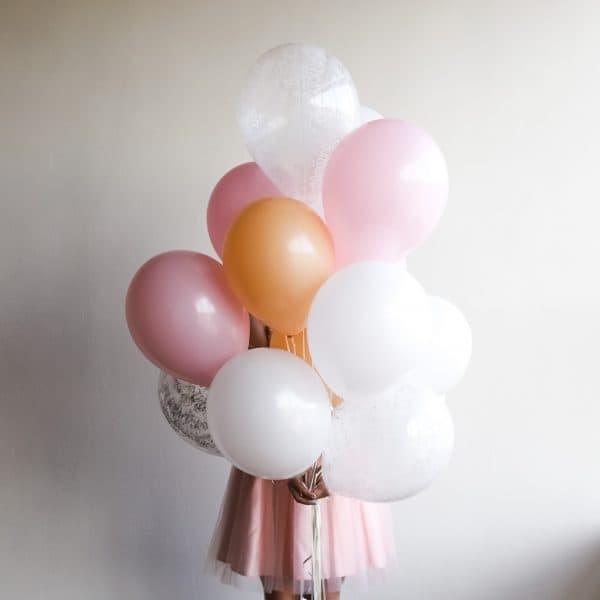 Набор из 15 шаров в персиковой гамме №286 - Фото 1