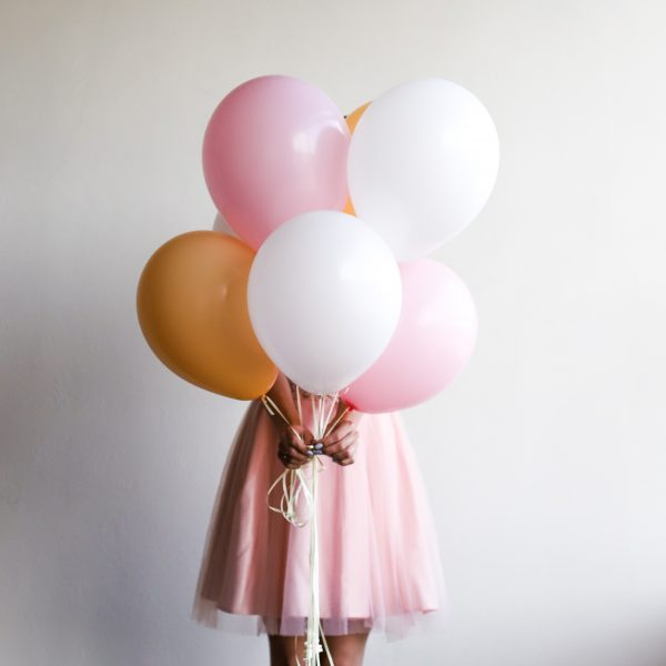 Набор из 7 шаров в персиковой гамме №287 - Фото 1
