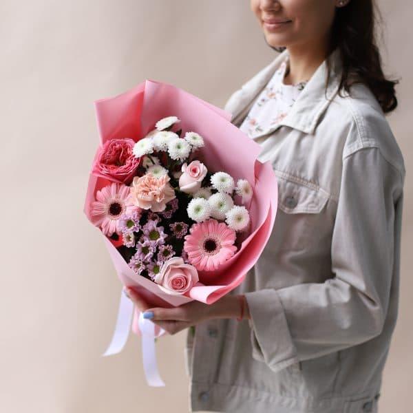 Букет комплимент в розовом оформлении №830 - Фото 1