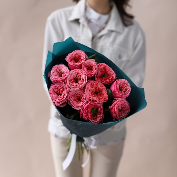 Монобукет из пионовидных премиальных Роз №844 - Фото 1