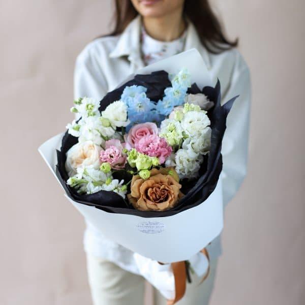 Сборный букет с винтажной розой №848 - Фото 1