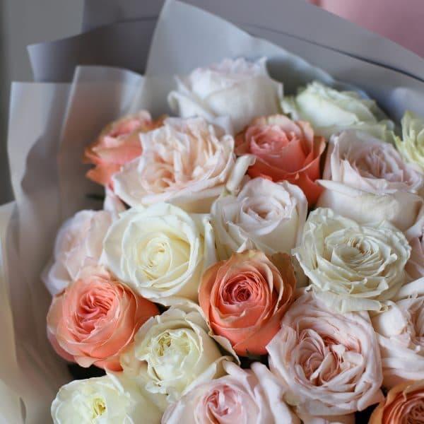 Монобукет из роз №896 - Фото 2