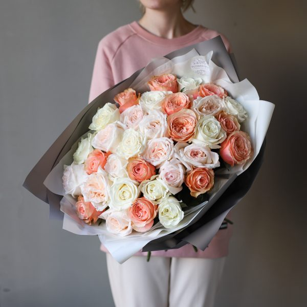 Монобукет из роз №896 - Фото 1