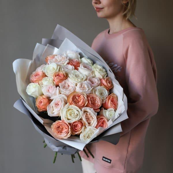 Монобукет из роз №896 - Фото 3
