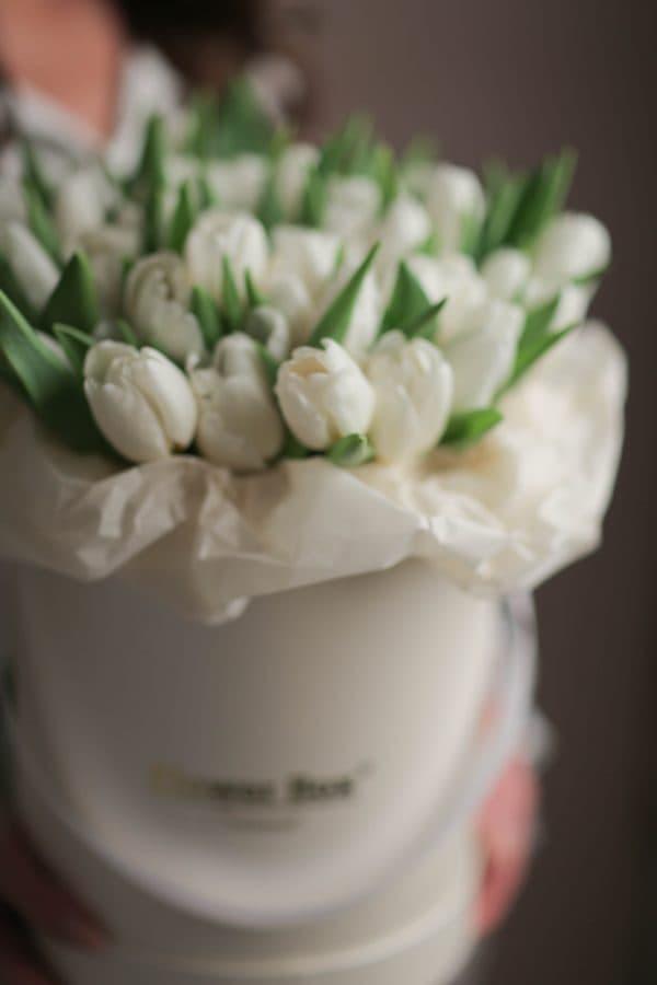 Шляпная коробка с Тюльпанами №1059 - Фото 2