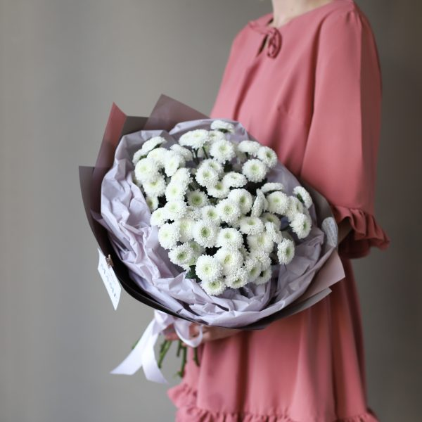 Букет из хризантем сорта Кокос 11 шт №902 - Фото 4