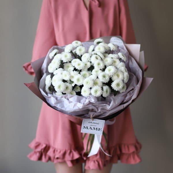 Букет из хризантем сорта Кокос 11 шт №902 - Фото 3