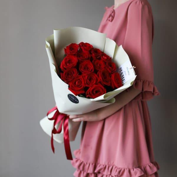 Монобукет из Российских роз 15 шт №904 - Фото 2