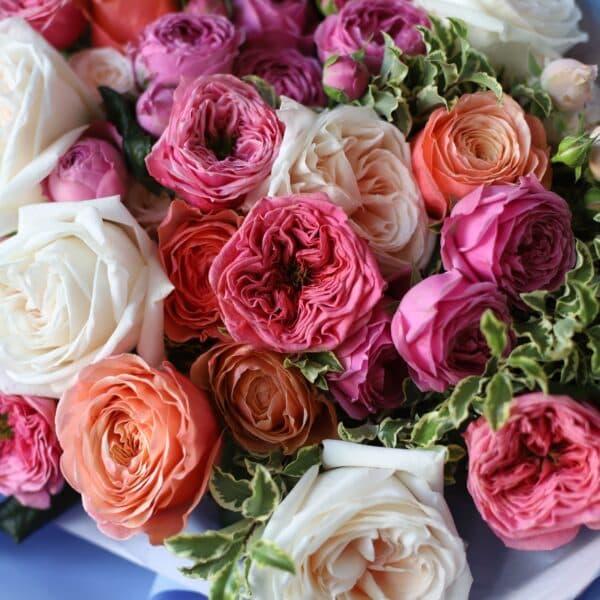 Букет из премиум пионовидных роз №1123 - Фото 8