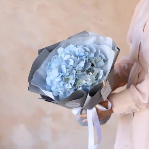 Голубая гортензия в упаковке №1160 - Фото 7