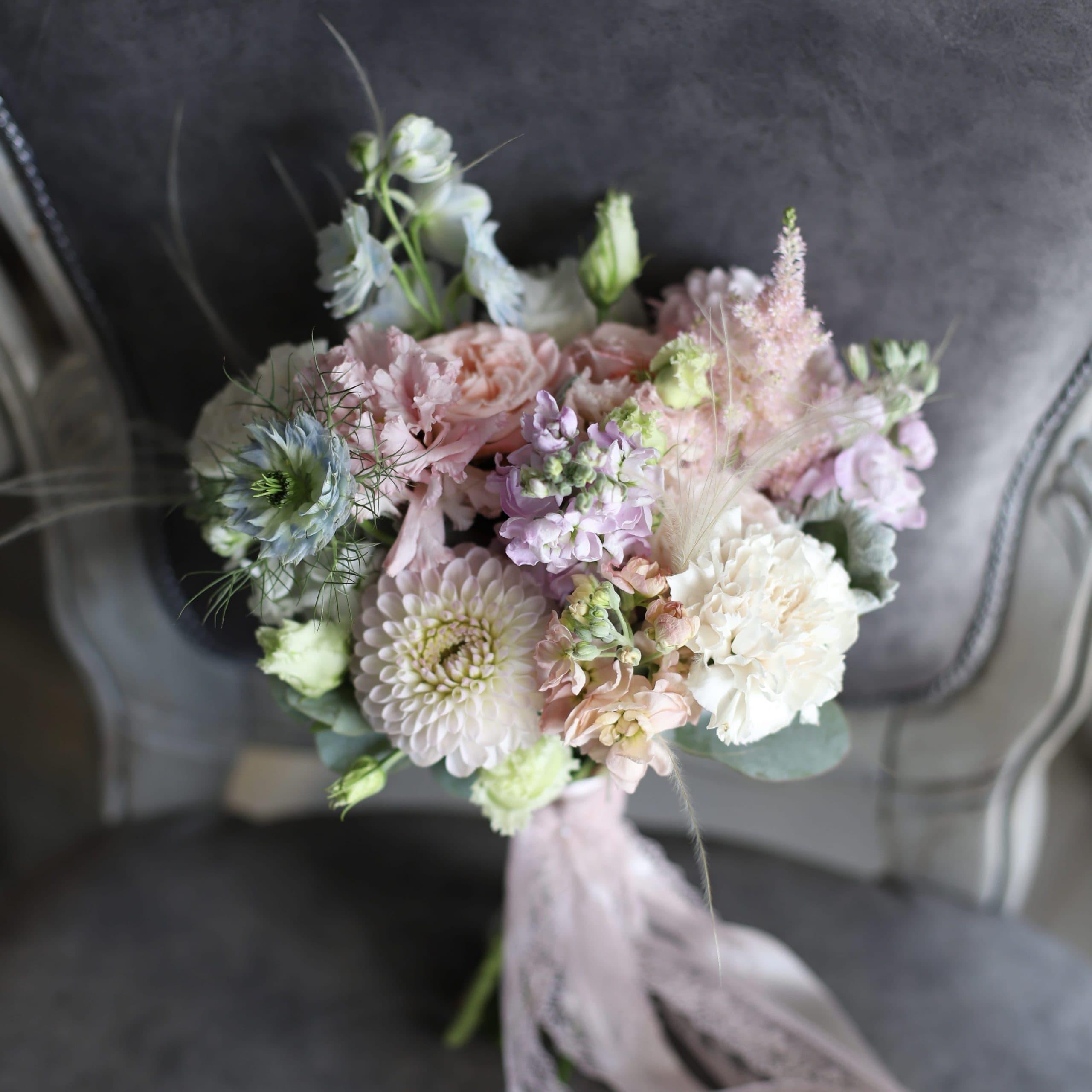 Летний букет невесты в розовой гамме №972 - Фото 1