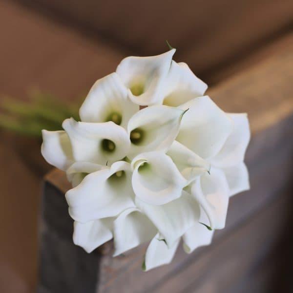 Свадебный букет с белыми каллами №969 - Фото 4