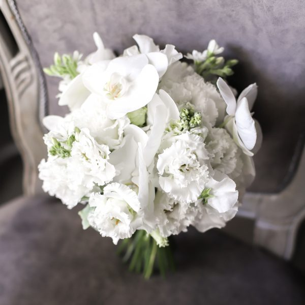 Воздушный букет невесты с орхидеями №995 - Фото 1