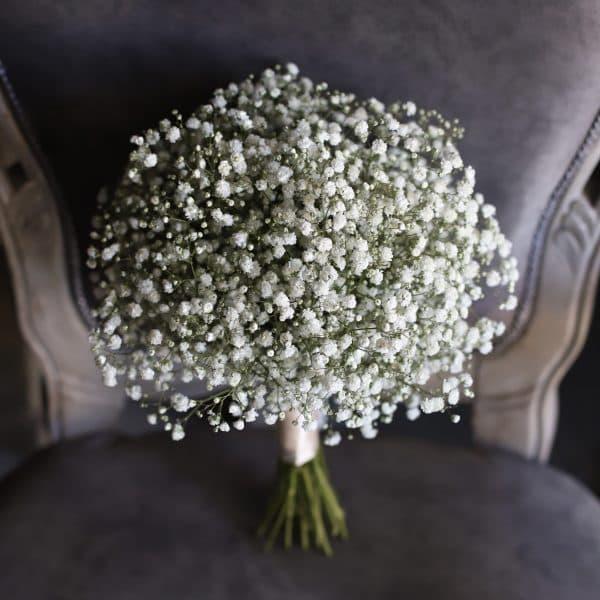 Свадебный букет из гипсофилы №944 - Фото 7