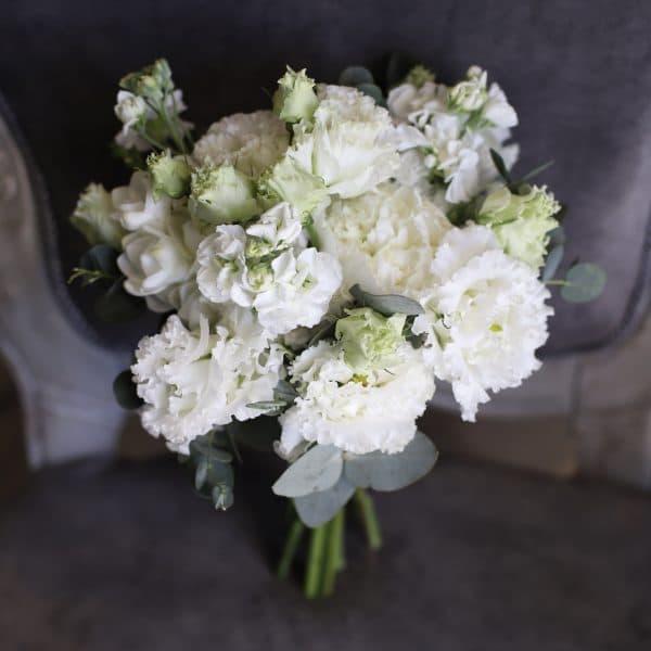 Свадебный букет в белом цвете №965 - Фото 1