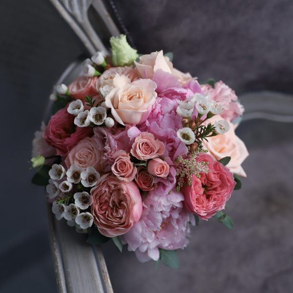 Свадебный букет в ярко розовом цвете №991 - Фото 1