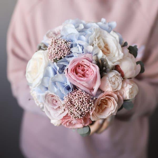 Свадебный букет с добавлением гортензии №984 - Фото 1