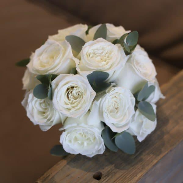 Свадебный букет из роз и эвкалипта №960 - Фото 1